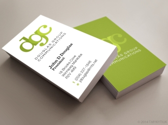 Douglas Group Communications Logo Development and Business Cards