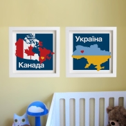 Map art prints for kids