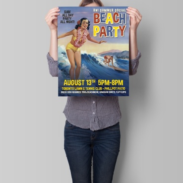 Russel Events Beach Party Event Poster