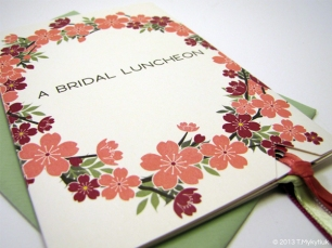 Bridal Shower Invitation sleeve