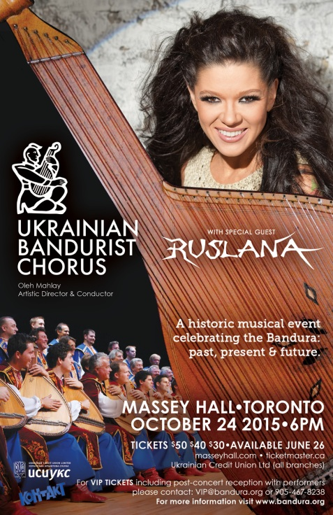 Ukrainian Bandurist Chorus & Ruslana Concert poster