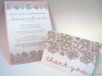 Katie's Shower Invitation & Thank You card