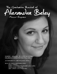 Alexandra Beley Recital Poster