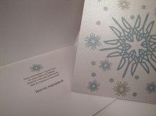 Contemporary Ukrainian Christmas Card by PtashkaArts on Etsy