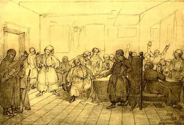 Cossack Feast, 1838 by Taras Shevchenko