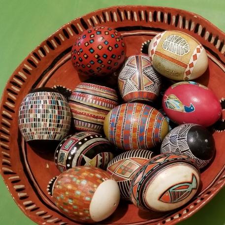 Christina Yurchuk's innovative and non-traditional pysanka designs