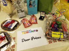 Door prizes courtesy of local businesses and participants