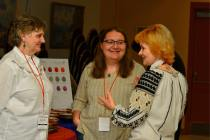 Guest lecturers Mar'yana Svarnyk (centre) and Myroslava Boikiv (right).